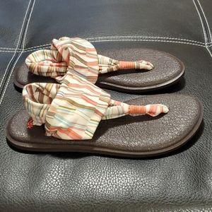 Sanuk sling sandals